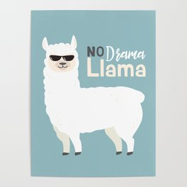 NO DRAMA LLAMA Poster