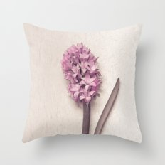 Pink Hyacinth Throw Pillow