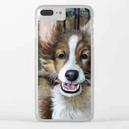 Play Fetch Clear iPhone Case