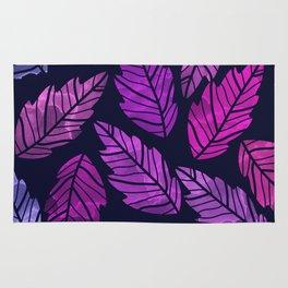 Colorful leaves III Rug