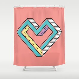 le coeur impossible (nº 2) Shower Curtain