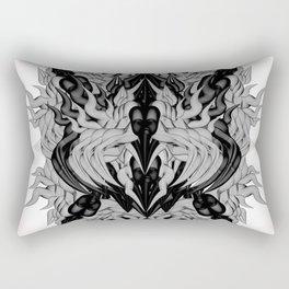 Silver Monster Rectangular Pillow