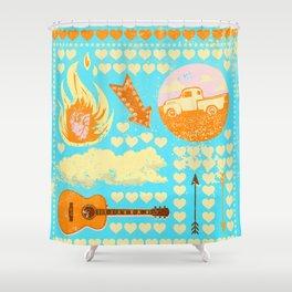 FOLKSY VIBES Shower Curtain