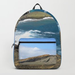 Green Beach and Turquoise Ocean Backpack