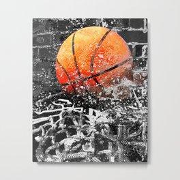 Basketball art swoosh 103 Metal Print