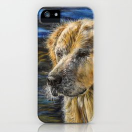 One Wet Golden Retriever by Teresa Thompson iPhone Case