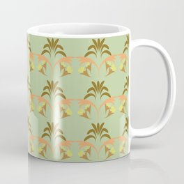 Golden Wheat Floral Coffee Mug