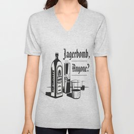 Jagerbomb, Anyone? Unisex V-Neck