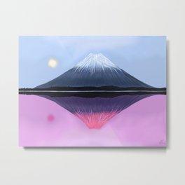Two Fuji - Painting Metal Print