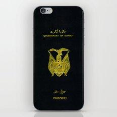 Old Kuwaiti Passport iPhone & iPod Skin