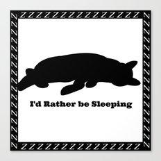 Cat nap w/border Canvas Print