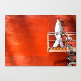 Wall of Orange Canvas Print