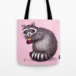 Raccoon with Cupcake Tote Bag