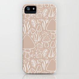 Fungi Woodland Mushroom Pattern iPhone Case