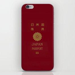 Japanese Passport iPhone Skin