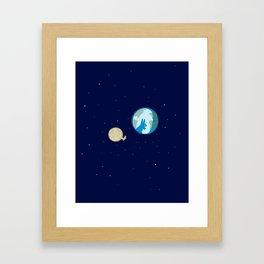 Rabbit on the moon? Framed Art Print