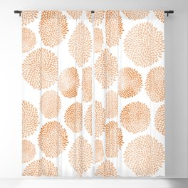 Modern hand painted trendy terracotta floral pattern Blackout Curtain
