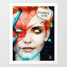 Ziggy Stardust/David Bowie Art Print