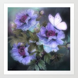 PEONIES IN BLOOM 02 Art Print