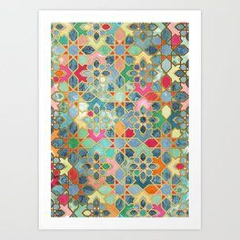 Gilt & Glory - Colorful Moroccan Mosaic Kunstdrucke