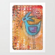 Sleepy Eyed Bird #7 Art Print