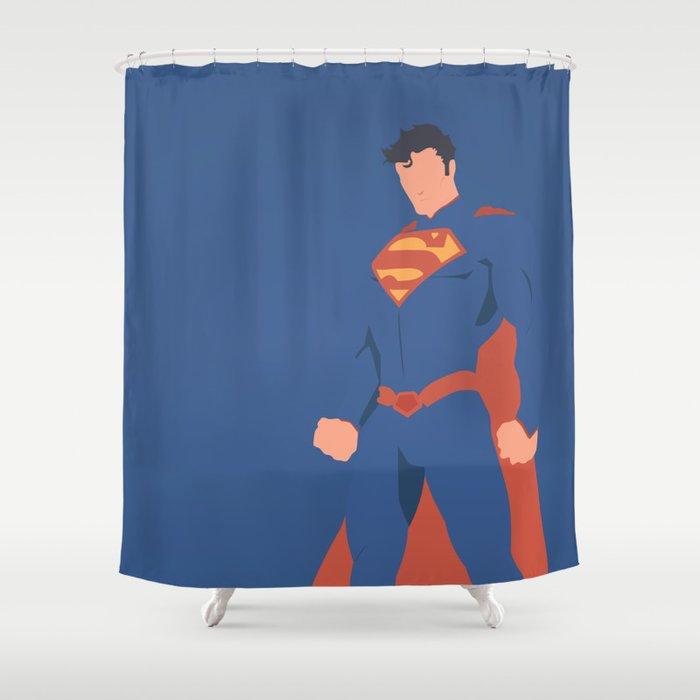 Superman Shower Curtain By Diegosouza