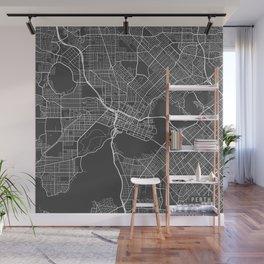 Perth Map, Australia - Gray Wall Mural