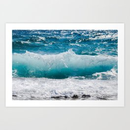 Summer Ocean Waves Art Print