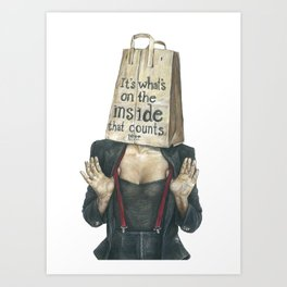 Brown Baggin' It No. 2 Art Print