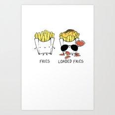 Loaded fries Art Print