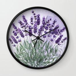 Lavender scent Wall Clock