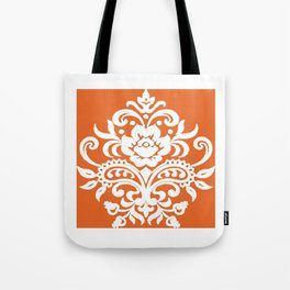 Damask on Peach Tote Bag