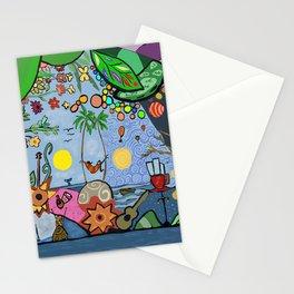 Man on a hamac Stationery Cards