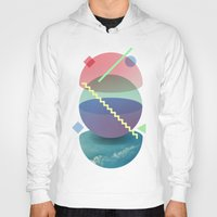 planet Hoodies featuring Planet by Valerio Pellegrini