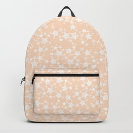 Pretty Peach/Apricot and White Stars Backpack