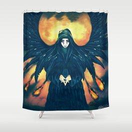 winged angel design Shower Curtain