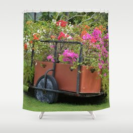 Flower Cart in Cebu Shower Curtain