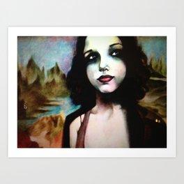 mona lisa in 2011 Art Print