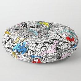 Kamasutra LOVE Doodle Closeup Color Valentine Floor Pillow