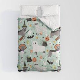 Pitbull halloween costumes pet portrait fall october cute trick or treat pitbulls Comforters