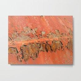 Red Rust Metal Print