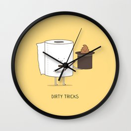 Dirty tricks Wall Clock