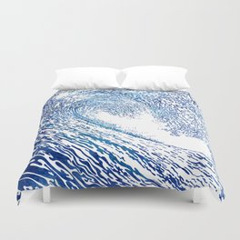 Pacific Waves IV Duvet Cover