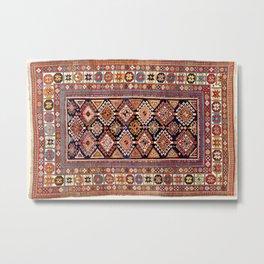 Shirvan East Caucasian Antique Rug Metal Print