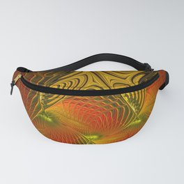 Mysterious and Luminous, Abstract Fractal Art Fanny Pack