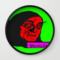 "gore Wall Clocks featuring No, it's pronounced ""Eye-gore"" 3 by Rachcox"