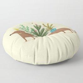 Dachshund & Parrot Floor Pillow