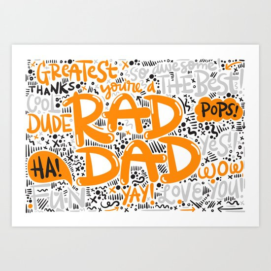 Fathersday dad Art Print
