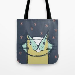 Cubist Cat Study #11 by Friztin Tote Bag