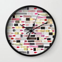 Lipstick War Wall Clock